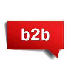 b2b red 3d speech bubble vector image