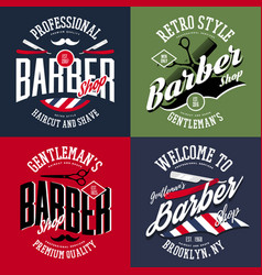 Barber shop banners or hairdresser advertising vector