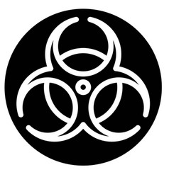 Biological hazard sign solid style icon vector