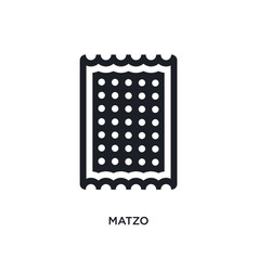 Black matzo isolated icon simple element from vector
