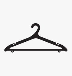 black plastic clothes hanger isolated on white vector image