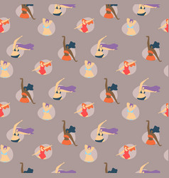 body positive seamless creative pattern vector image