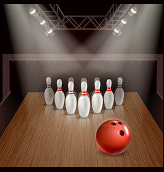 bowling 3d vector image