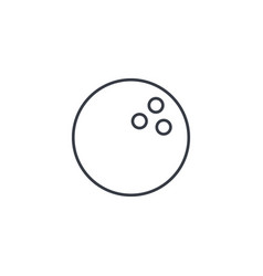 bowling ball thin line icon linear symbol vector image