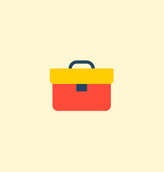 briefcase icon flat element vector image