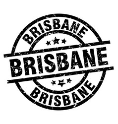 Brisbane black round grunge stamp vector
