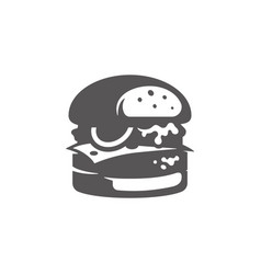 burger icon isolated on white background vector image