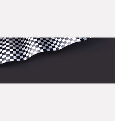 Checkered flag isolated on black background for vector