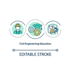 Civil engineering education concept icon vector