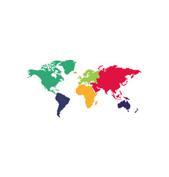 Continents great design for any purposes worldwide vector