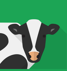 cow icon set of great flat icons design concepts vector image