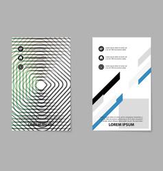 Creative abstract trend brochure set vector