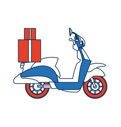 Delivering motorcycle business transport service vector
