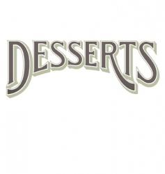 desserts vector image