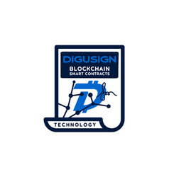 digibyte blockchain logo graphic dgb digusign vector image