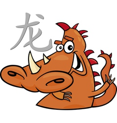 Dragon chinese horoscope sign vector