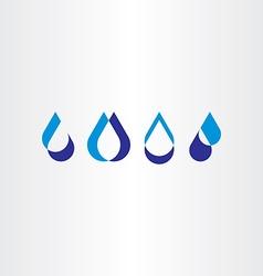drop water icon set collection logo design vector image