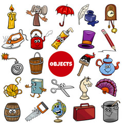 Everyday or home related objects set cartoon vector