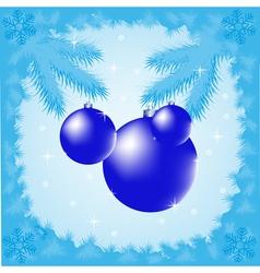 Festive winter background vector