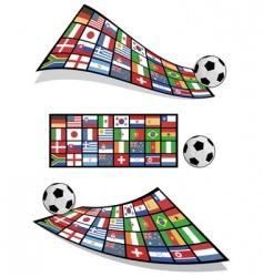 Football flag banners vector