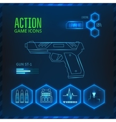 Game icon weapon vector