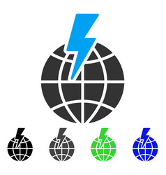 Global shock flat icon vector