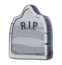 Grave icon cartoon style vector