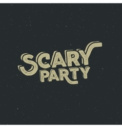 Halloween 2016 scary party typography label vector