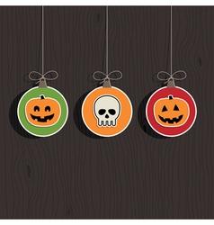 Halloween decorations vector