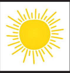 hand drawn shinny sun vector image