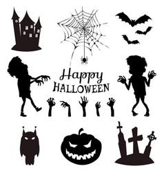 happy halloween banner on vector image