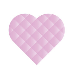 heart mosaic of square tiles with pink gradients vector image