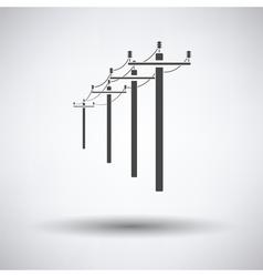 High voltage line icon vector