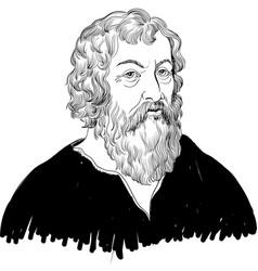 hippocrates vector image