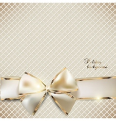 Holiday ribbon background vector image
