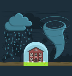 home insurance against natural disasters vector image