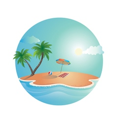 Island Dream Design vector image