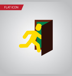 Isolated evacuation flat icon open door vector