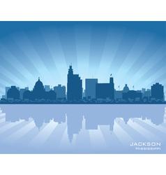 Jackson mississippi skyline vector