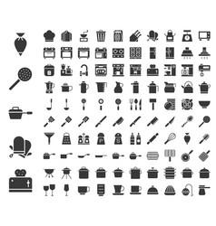 Kitchen utensils bakery equipments chef uniform vector