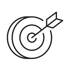 linear target with arrow icon vector image