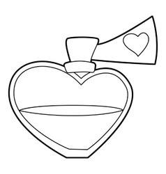 Love potion icon outline style vector