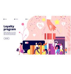 Loyalty program concept customer allegiance vector