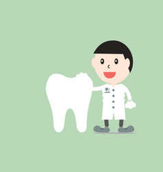 male dentist with healthy teeth vector image