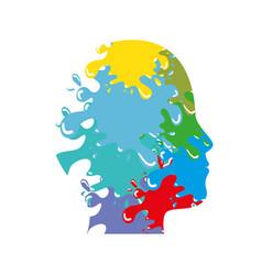 male head silhouette vector image