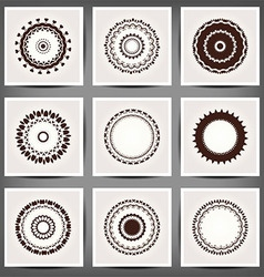 Mandala set 10 eps vector image
