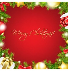 Merry Christmas Red Wallpaper vector image