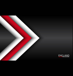Modern overlayed arrows with english colors vector