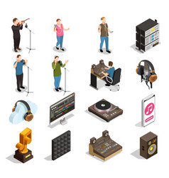 Music industry icons set vector