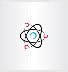 Nucleus atom icon logo symbol vector